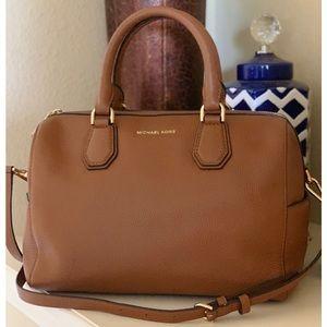 Michael Kors❤️Large Tan Leather Satchel